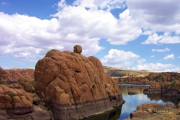Photograph - Watson Lake Red Rocks by R B Harper