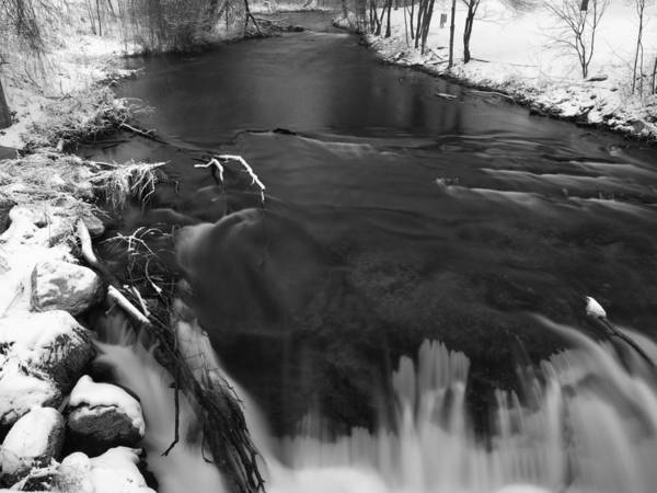 Wall Art - Photograph - Waupaca River In March by Thomas Young