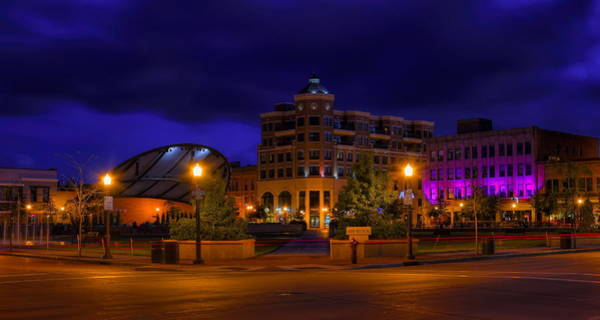 Photograph - Wausau's 400 Block After Dark by Dale Kauzlaric