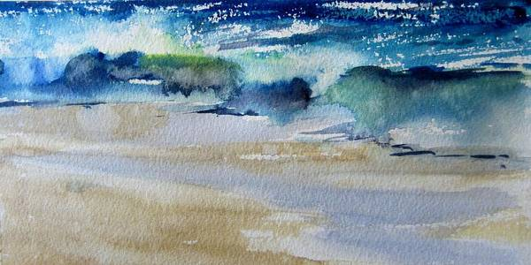 Laguna Beach Painting - Wave At Laguna by Sandra Strohschein