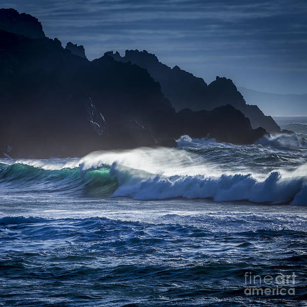 Photograph - Wave Backlight In Do Rio Beach Galicia Spain by Pablo Avanzini