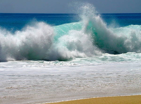 Blue Water Photograph - Wave by Karon Melillo DeVega