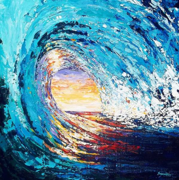 Wall Art - Painting - Wave Of Light by Suzanne King
