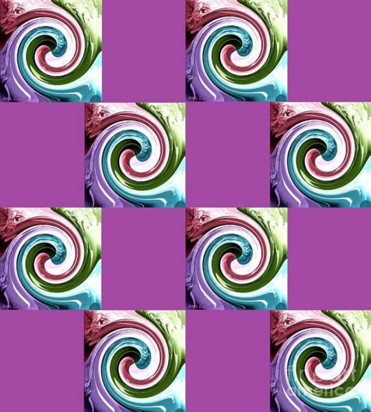Digital Art - Wave Of Purple 2 by Ann Calvo