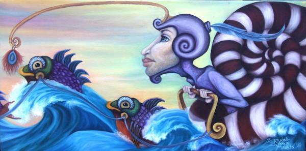 Wall Art - Painting - Wave Rider by Lorraine Davis Martin