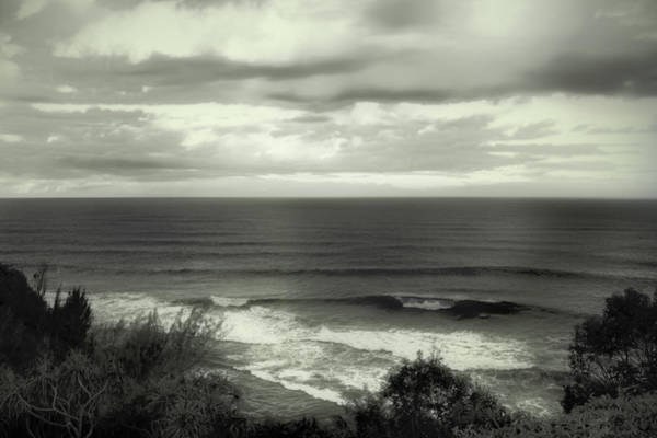 Photograph - Wave Watching In Black And White - Kauai - Hawaii by Belinda Greb