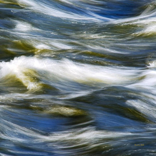 Photograph - Waves Abstract Square by Christina Rollo