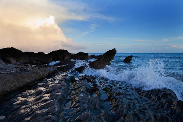 County Waterford Photograph - Waves And Rocks , Dungarvan Bay, County by Panoramic Images