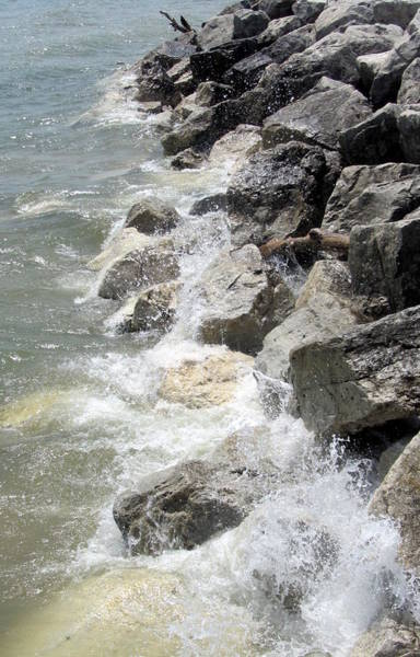 Photograph - Waves And Rocks 2 by Anita Burgermeister