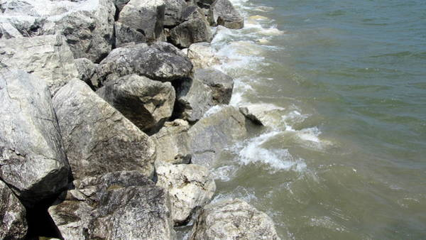 Photograph - Waves And Rocks 6 by Anita Burgermeister