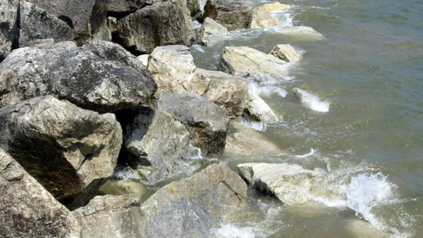Photograph - Waves And Rocks 7 by Anita Burgermeister