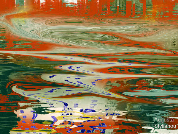 Digital Art - Waves And Shapes by Augusta Stylianou