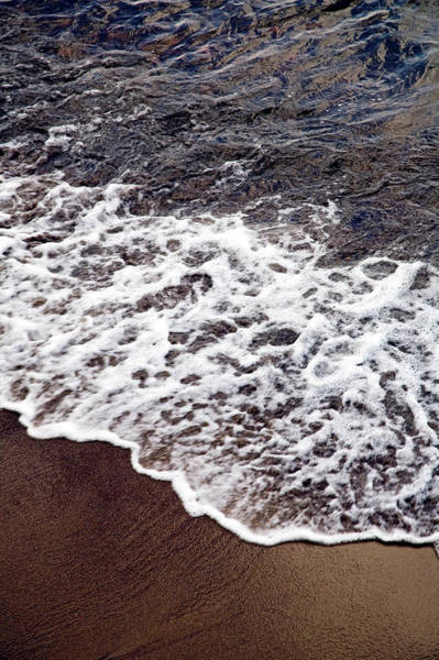 Surf City Usa Photograph - Waves And White Wash Break Onto A Sandy by Snap Decision