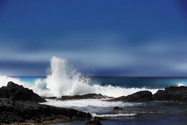 Rock Island Line Photograph - Waves by Athala Carole Bruckner