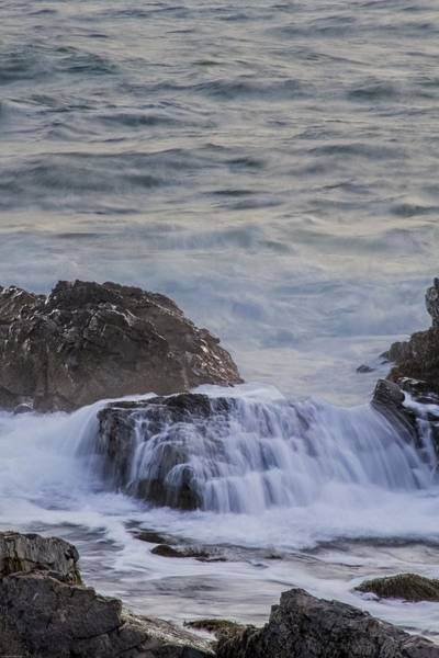 Photograph - Waves Breaking Off Marginal Way by Paul and Janice Russell