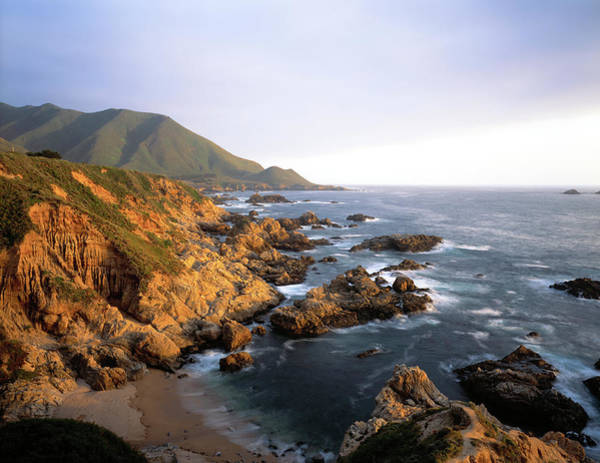 Coastal Highway Wall Art - Photograph - Waves Breaking On Garrapata Beach by Panoramic Images