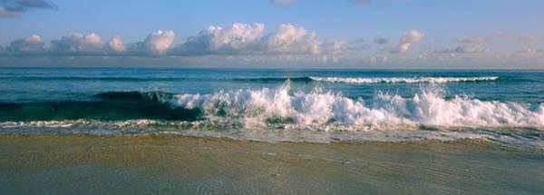 Wall Art - Photograph - Waves Crashing On The Beach, Varadero by Panoramic Images