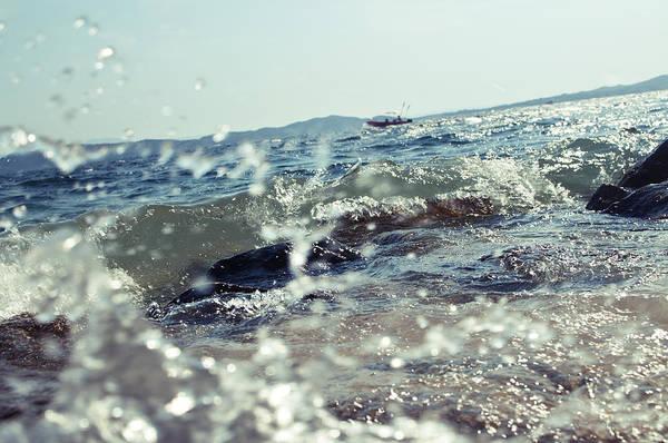Seacoast Photograph - Waves by Ivan Vukelic