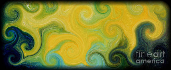 Wall Art - Painting - Waves Of Gold by Michael Grubb