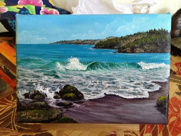 Painting - Waves On Fleming Beach by Darice Machel McGuire