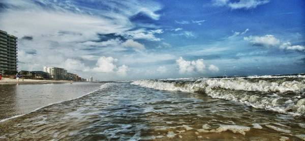 Photograph - Waves On Orange Beach by Michael Thomas