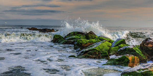 Photograph - Waves On The Jetty by Dave Hahn