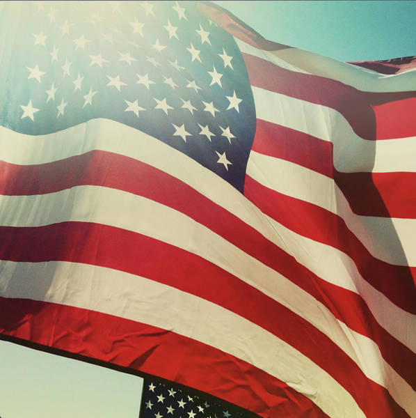 Usa Flag Photograph - Waving Flag by Denise Taylor
