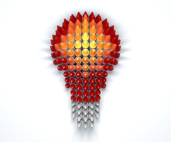 Intelligence Digital Art - Wax Crayon Lightbulb  by Allan Swart