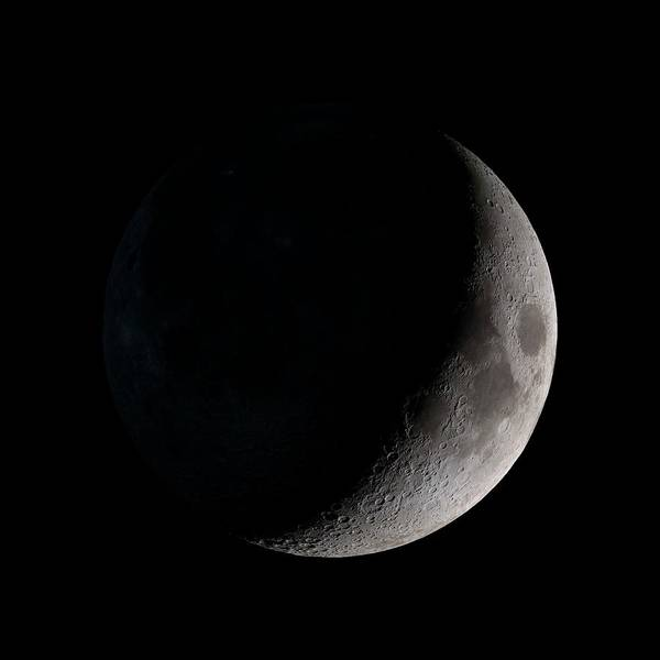 Lola Photograph - Waxing Crescent Moon by Nasa/gsfc-svs/science Photo Library