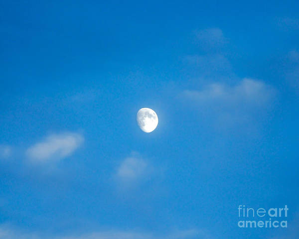 Photograph - Waxing Daytime Moon by Kristen Fox