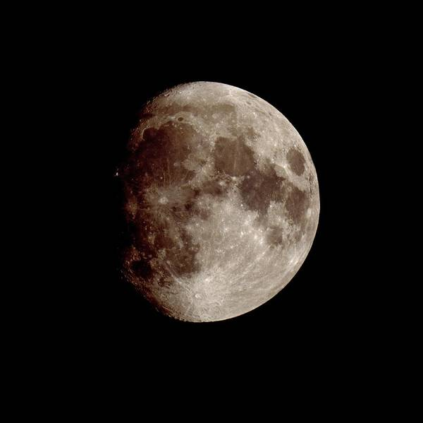 Mare Photograph - Waxing Gibbous Moon At 12 Days by John Sanford/science Photo Library