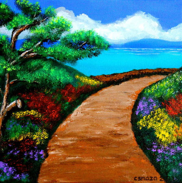 Painting - Way To The Sea by Cyril Maza