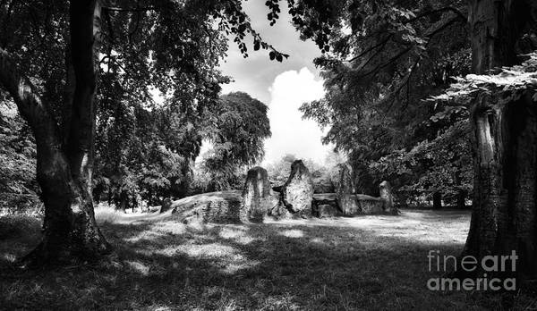 Wayland's Smithy Monochrome Art Print by Tim Gainey