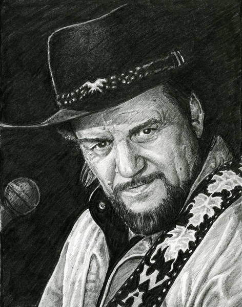 Drawing - Waylon by William Underwood