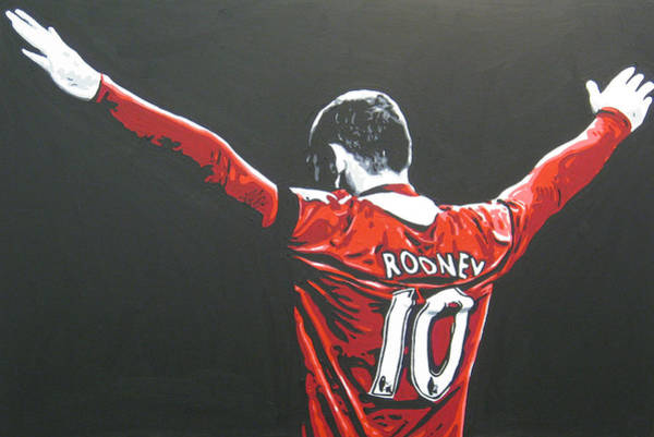 Manchester United Fc Wall Art - Painting - Wayne Rooney - Manchester United Fc 2 by Geo Thomson