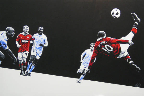 Manchester United Fc Wall Art - Painting - Wayne Rooney - Manchester United Fc by Geo Thomson