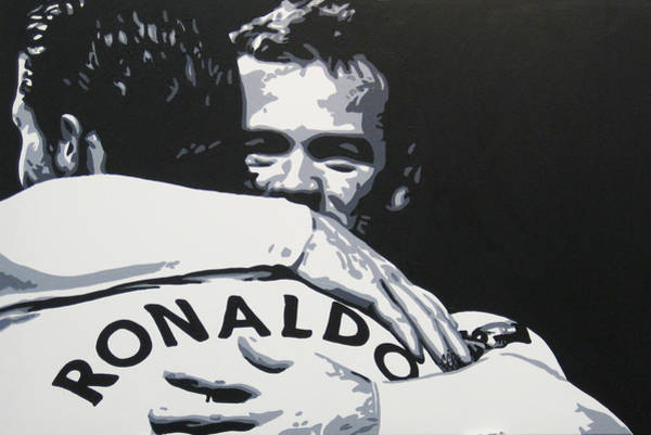 Manchester United Fc Wall Art - Painting - Wayne Rooney And Ronaldo - Manchester United Fc by Geo Thomson