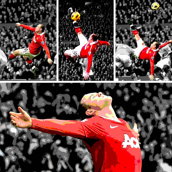 Wall Art - Photograph - Wayne Rooney Overhead Kick Vs Manchester City by Pro Prints