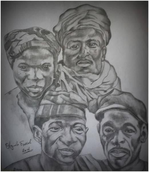 Wa Drawing - Wazobia United Nigeria by Olayiwola Ezekiel
