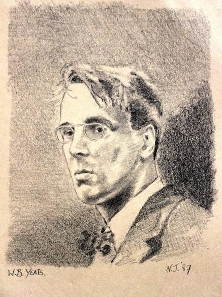 Wall Art - Drawing - W.b. Yeats by John  Nolan