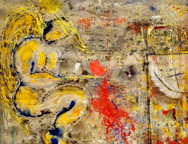 Painting - We All Bleed The Same Color by Giorgio Tuscani
