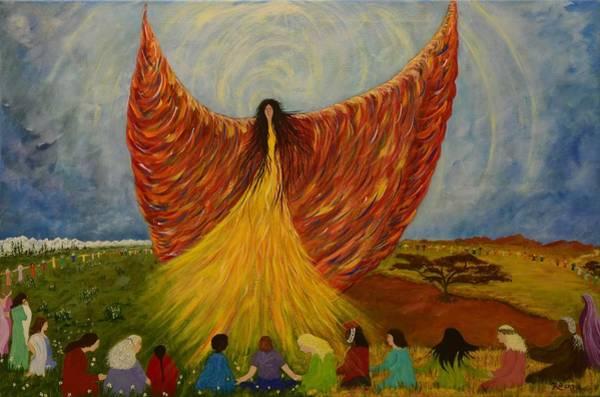 Summoning Painting - We Are Rising by Judy M Watts-Rohanna