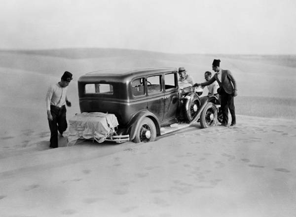 Thirst Photograph - We Are Stuck Circa 1920 by Aged Pixel