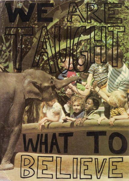 Capitalism Mixed Media - We Are Taught What To Believe by Neil Campau