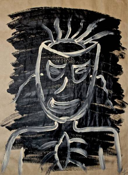 Painting - We Are The Masks We Wear by Mario MJ Perron