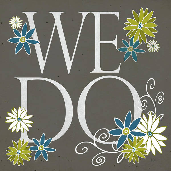 Wedding Painting - We Do II by Shanni Welsh