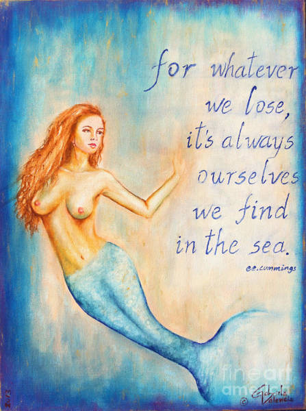 Wall Art - Painting - We Find In The Sea by Gabriela Valencia
