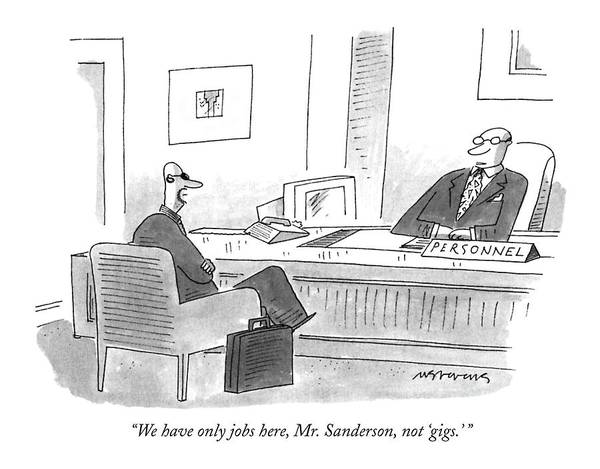 Apply Drawing - We Have Only Jobs Here by Mick Stevens