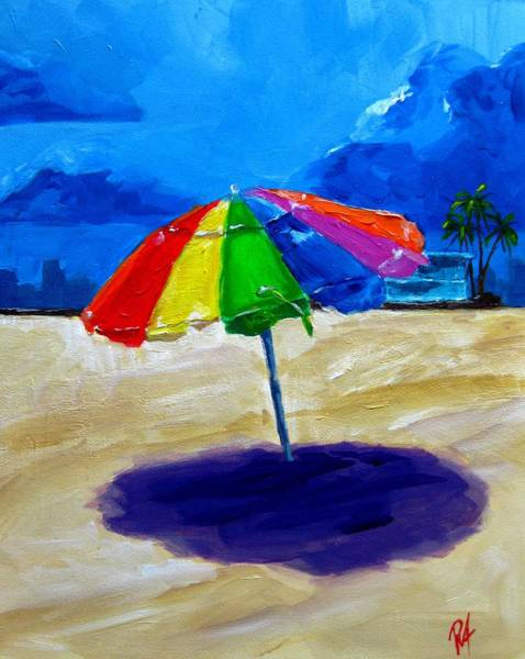 Painting - We Left The Umbrella Under The Storm by Patricia Awapara
