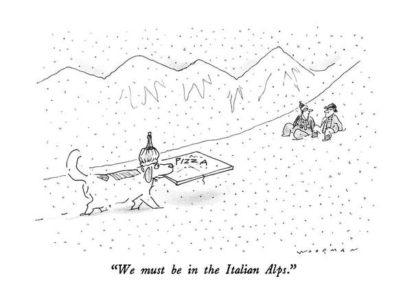 Regional Drawing - We Must Be In The Italian Alps by Bill Woodman